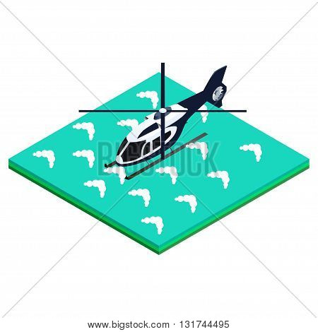 isometric vector illustration splashed helicopter designs for brochures, infographics