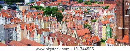 Red Tiled Roofs In The Old Town Of Gdansk, Poland