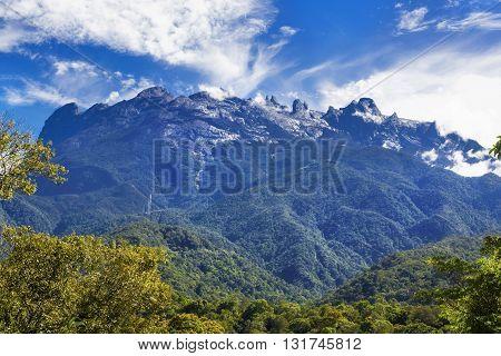 Mount Kinabalu in Sabah, Borneo, East Malaysia.