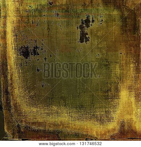 Grunge abstract textured background, aged backdrop with different color patterns: yellow (beige); brown; gray; green; black