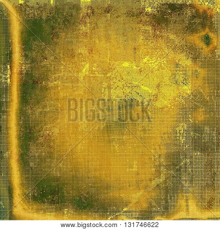 Cute colorful grunge texture or tinted vintage background with different color patterns: yellow (beige); brown; green; red (orange)