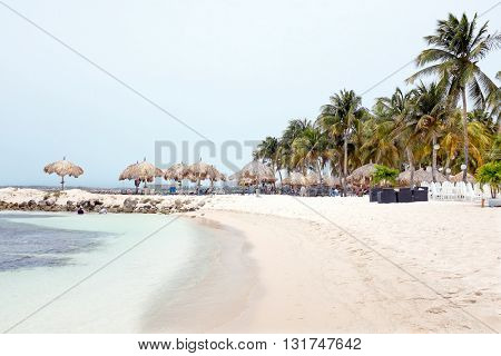 Palm Beach at Aruba island in the Caribbean Sea