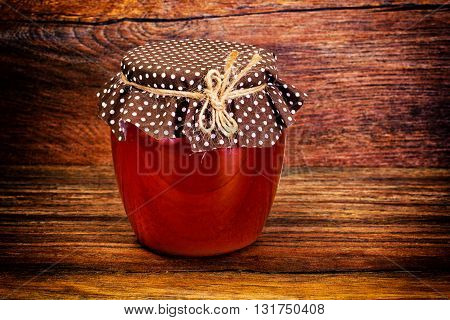Glass Jar with Cream Honey Bee Studio Photo