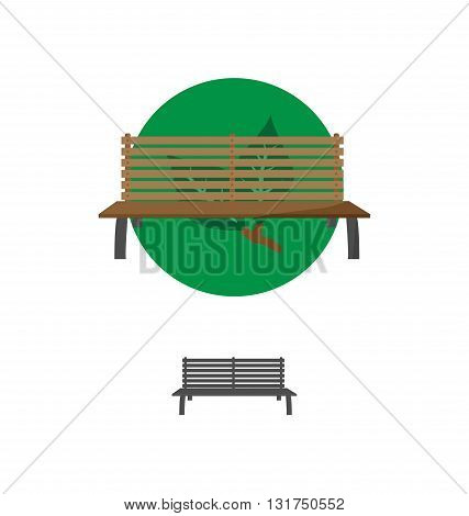 Outdoor Bench Icon Vector Illustration Eps 10