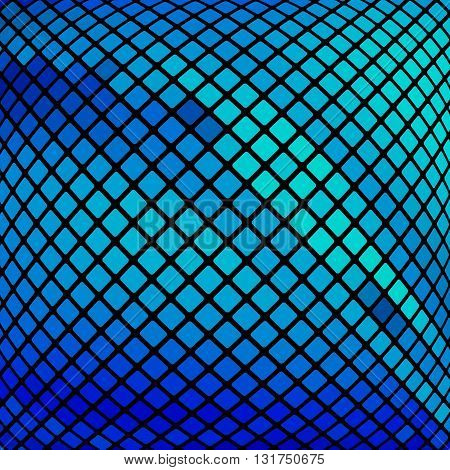 Beautiful vector geometric blue background. Design element.