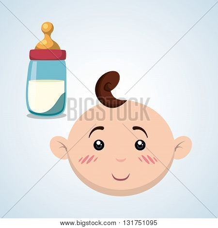 Baby shower  concept with icon design, vector illustration 10 eps graphic.
