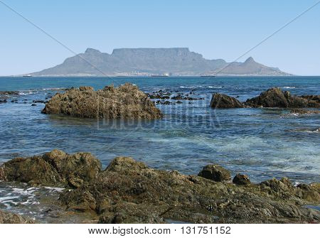 View Of Table Mountain From Blouberg Strand Cape Town South Africa