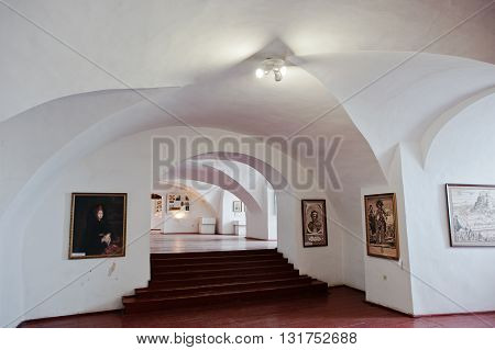 Mukachevo,ukraine - April 11,2016: Art Gallery At Palanok Castle
