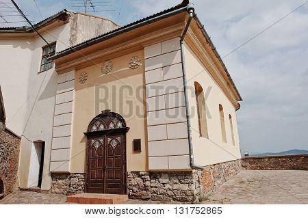 Mukachevo,ukraine - April 11,2016: Ecumenical Church In Palanok Castle In Mukachevo, Transcarpatia,