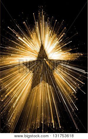 SPEED EFFECT , COLORFUL SPARKLING STAR ABSTRACT BACKGROUND