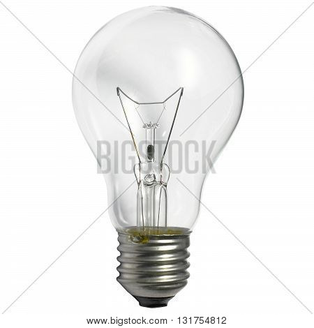 vertical stand light bulb incandescent lamp isolated on white background