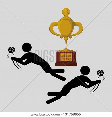 Volleyball concept with icon design, vector illustration 10 eps graphic.