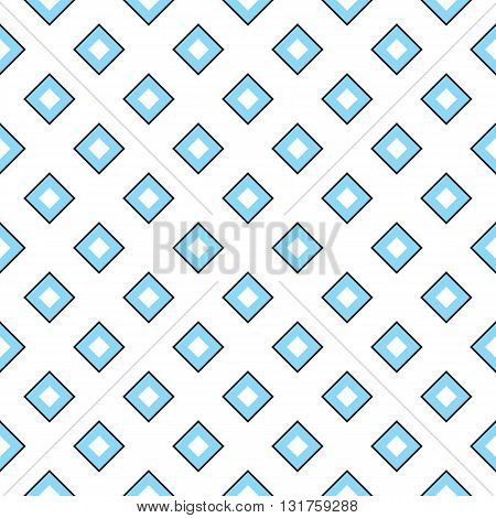 Seamless geometric texture with rhombuses. Colored rhombuses on white background. Vector illustration in EPS8 format pattern swatch included.