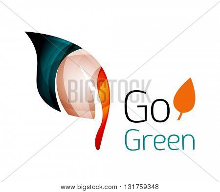 Abstract leaf icon. Vector illustration