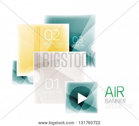 Square web information box. Vector illustration