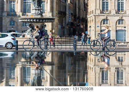 Place De La Bourse In Bordeaux, France On September 20, 2015
