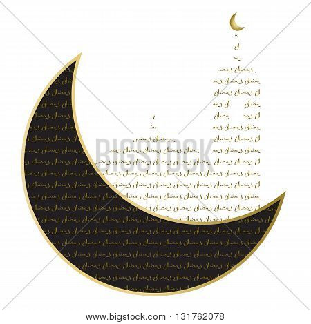 Arabic Islamic calligraphy of text Ramadan Kareem on shiny lights decorated black background for holy month of Muslim community. art