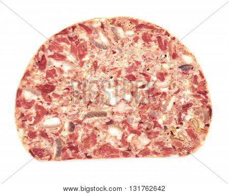 Saltisons, Brawn Homemade Ham. Isolated Studio Photo