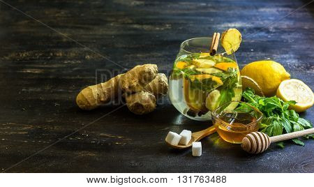 Ginger Tea Concept