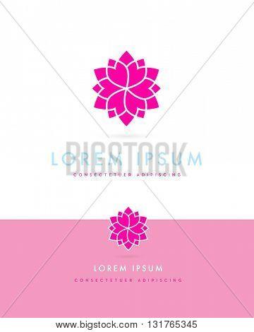 BEAUTIFUL DECORATIVE , FLOWER - STAR , ICON / LOGO