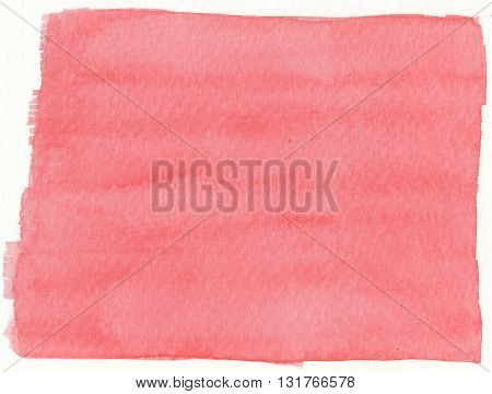 plain simple flat red paint watercolor abstract background