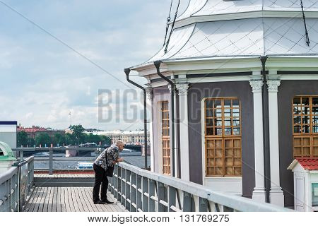 Tourist Man In Peter And Paul Fortress