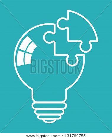 Idea concept with icon design, vector illustration 10 eps graphic.