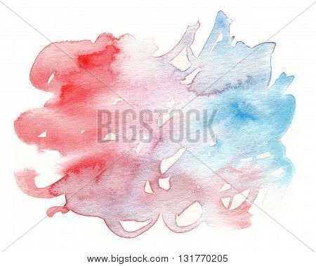 grunge red blue abstract wet watercolor background