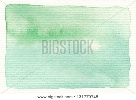 green watercolor paint on horizontal linear textures paper background