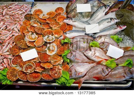 Fresh Seafoods With Price Tag