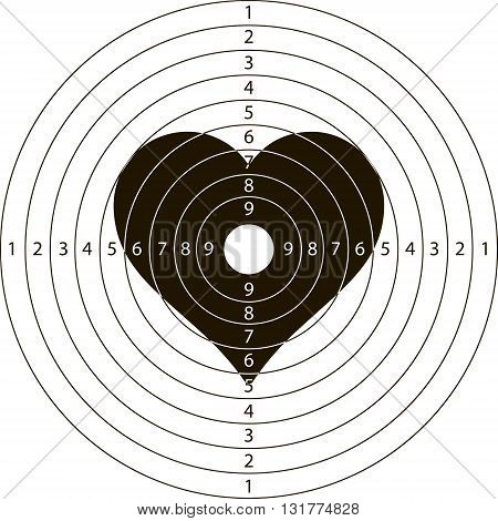 shooting target heartfor the shooting range small arms made in the vector