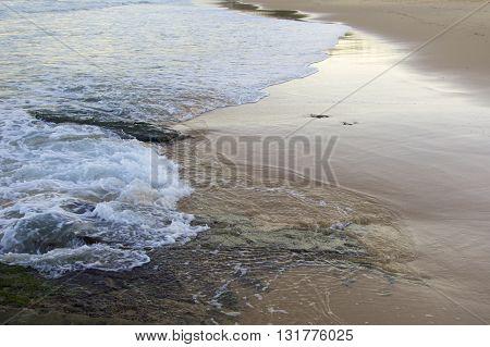 Newcastle Beach at dusk, Newcastle NSW, Australia