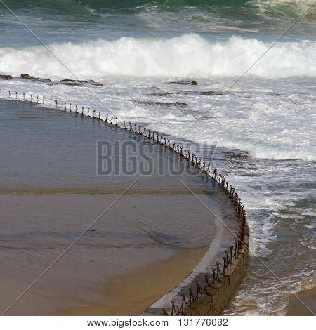 Salt water pool, Newcastle Beach, Newcastle, NSW, Australia