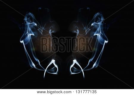 The White smoke on a dark backgrounds
