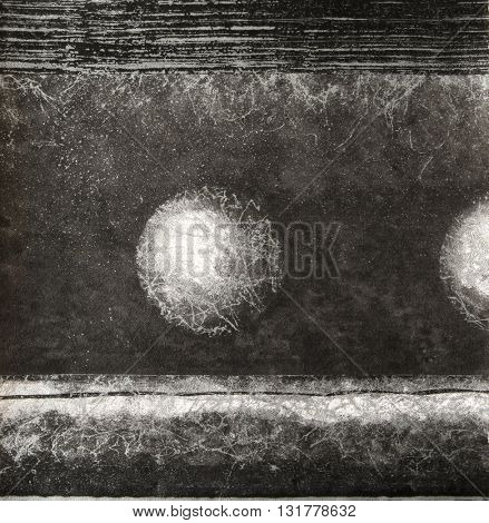 ROUGH , BLACK AND WHITE , WEATHERED WALL PAINT CLOSEUP BACKGROUND