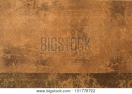 ROUGH WEATHERED WALL,BROWN PAINT, CLOSEUP BACKGROUND