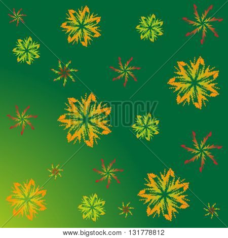 A pattern of maple leaves. The end of the summer. September. Autumn