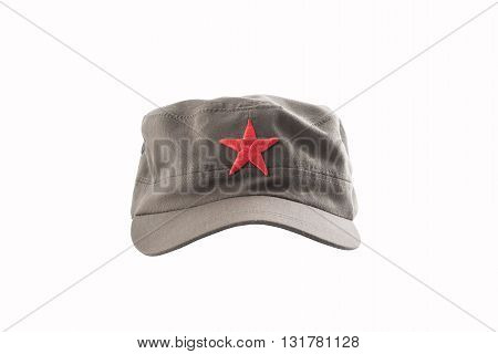 communist hatred star cap on white background