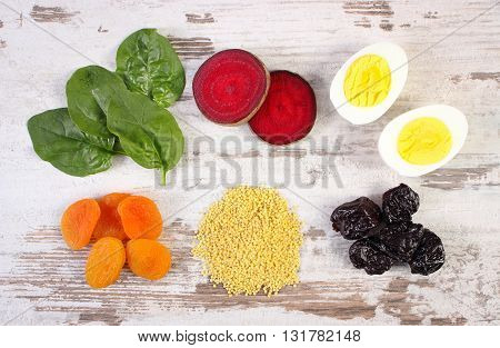 Ingredients and products containing iron and dietary fiber natural sources of ferrum healthy lifestyle food and nutrition