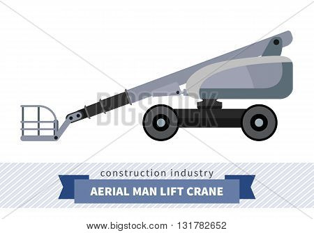 Aerial Man Lifts Crane