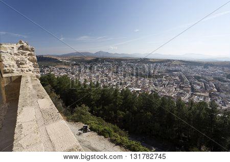 The city of Alcala la Real seen from the Fortaleza de La Mota Spain
