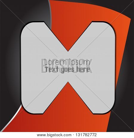 Orange, black abstract background vector deisgn illustration