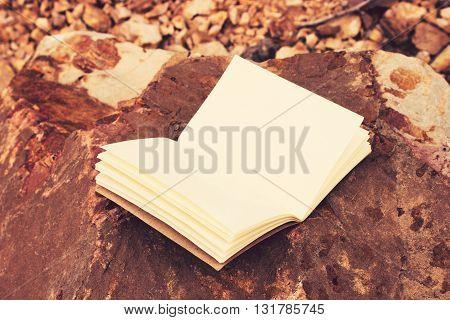 Vintage tone: the  book on Orange rocks