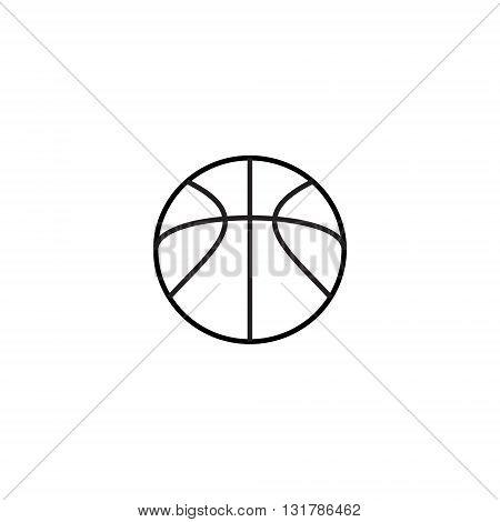 Image of basketball icon. Basketball icon vector. Basketball icon art. Basketball icon logo. Outline of basketball icon. basketball Icon design.