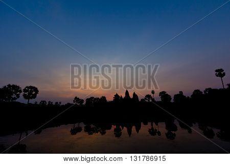 Early Dawn At Angkor Wat