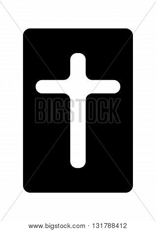 Bible icon isolated on white background vector