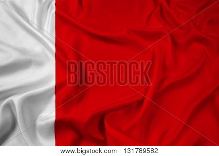 Waving Flag of Dubai, with beautiful satin background