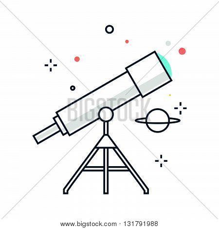 Color Line, Astronomy Illustration