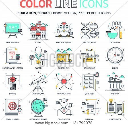 Color Line, Education, School Illustrations