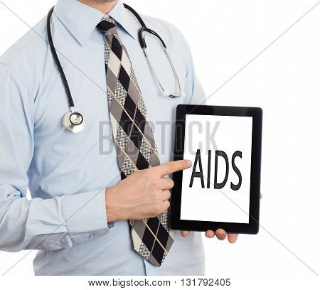 Doctor Holding Tablet - Aids